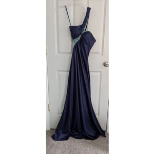 Side Cut Out, One Shoulder Prom Dress